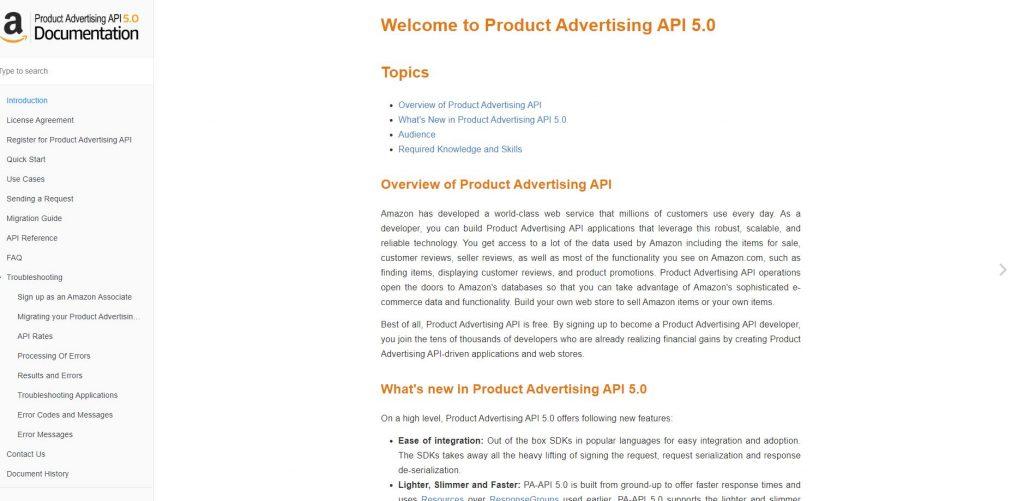 Documentación API 5.0